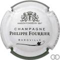 Champagne capsule A1.e Contour blanc et vert foncé, couleur longue