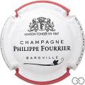 Champagne capsule A1.c Contour blanc et rouge, couleur longue