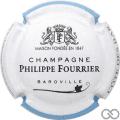 Champagne capsule A1.b Contour blanc et bleu ciel, couleur longue