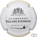 Champagne capsule A1.f Contour blanc et jaune pâle, couleur longue