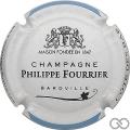 Champagne capsule 29.b Contour blanc et bleu ciel, couleur courte