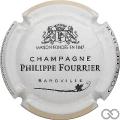 Champagne capsule 29.f Contour blanc et jaune pâle