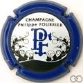 Champagne capsule 25.d Contour bleu foncé