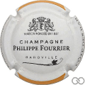 Champagne capsule 29 Contour blanc et orange