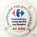Champagne capsule 28 40 ans de Carrefour