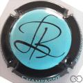 Champagne capsule 11.j Turquoise, contour noir