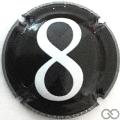 Champagne capsule 5 Noir, 8 blanc