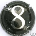 Champagne capsule 1 8, métal sur fond noir