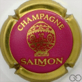Champagne capsule 18.l Fond rosé foncé, contour or