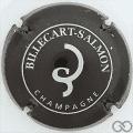 Champagne capsule A1.d Noir et argent, petit cercle