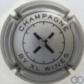 Champagne capsule 1 Argent foncé et noir