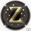 Champagne capsule 10.c Z, noir et or
