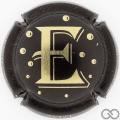 Champagne capsule 10.d E, noir et or