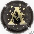 Champagne capsule 10 A, noir et or