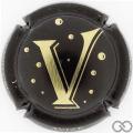 Champagne capsule 10.a V, noir et or