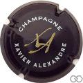 Champagne capsule 1 Noir, or et blanc