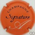 Champagne capsule 6 Cuvée Signature, orange et noir