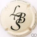 Champagne capsule 23.a Crème et noir