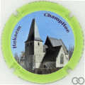 Champagne capsule 12.d Contour vert fluo