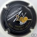Champagne capsule 614 An 2000, n° 614, noir
