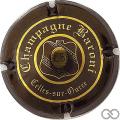 Champagne capsule 3 Brun-noir et or