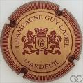 Champagne capsule 1 Or et bordeaux, striée