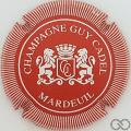 Champagne capsule 7 Rouge et blanc, striée