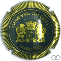 Champagne capsule 4 Vert et or, striée