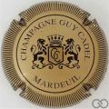 Champagne capsule 9 Or-bronze et noir, striée, verso or