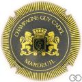 Champagne capsule 5 Bleu et or, striée