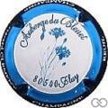 Champagne capsule 49.d Contour bleu et bleu foncé