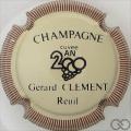 Champagne capsule 12 Crème, striée marron