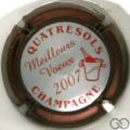 Champagne capsule 22.d Contour bordeaux