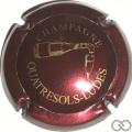 Champagne capsule 20.a Bordeaux et or