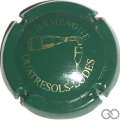 Champagne capsule 20.c Vert et or
