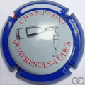 Champagne capsule 20.j Contour bleu