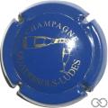 Champagne capsule 20 Bleu et or