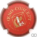 Champagne capsule 1.h Rouge, or et blanc, striée