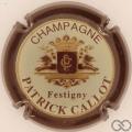 Champagne capsule 4 Crème, contour marron
