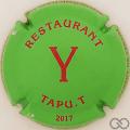 Champagne capsule 15.bd Y rouge sur vert