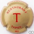 Champagne capsule A7.e Marron pâle et rouge T
