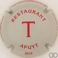 Champagne capsule 15.a T rouge sur gris