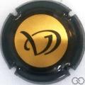 Champagne capsule 21.e Or, contour noir