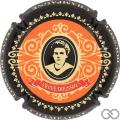 Champagne capsule 10.d Orange, contour noir