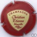 Champagne capsule 1 Rouge et crème, striée