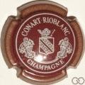 Champagne capsule 8.b Bordeaux, écriture blanc, striée