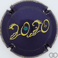 Champagne capsule 97.b Bleu-nuit métallisé, avec strass