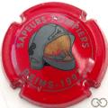 Champagne capsule H9901.b Rouge et gris clair 1997