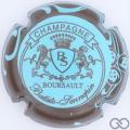 Champagne capsule 7 Bleu pâle, contour marron