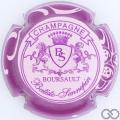 Champagne capsule 8 Rosé pâle, contour violet